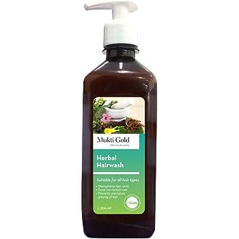 Axiom Mukti Gold Herbal Hairwash 500ml with Dispenser