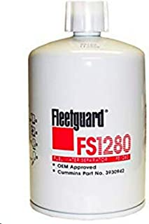 FS1280 Fleetguard Fuel, Water Sep (Pack of 1)