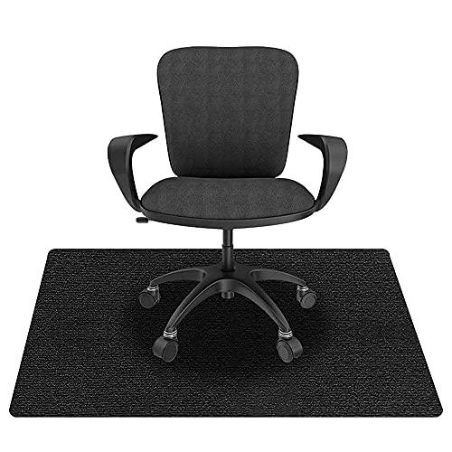 KAZOLEN Bodenschutzmatte für Hartböden, Bürostuhlunterlage, Bodenmatte Stuhlunterlage, Mehrzweck-Stuhlteppich, Bodenschutzmatte für Laminat, Parkett, Fliesen, schwarz (schwarz 90 x 120 cm)