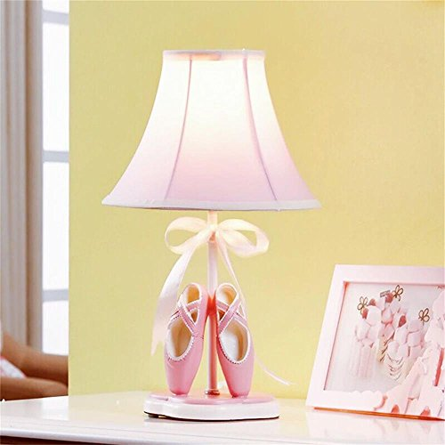 SMC Princesse nordique fille enfant chambre lampe chambre lampe de chevet tissu mignon chaussures de danse lampe de table cadeau d'anniversaire chaud