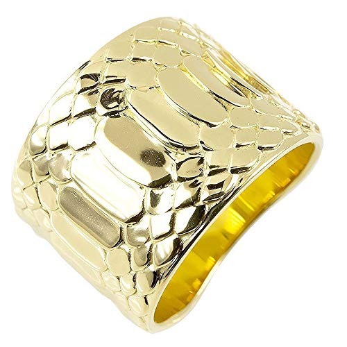 [アトラス]Atrus リング レディース 18金 イエローゴールドk18 蛇腹 ヘビ 幅広 地金 指輪 22号