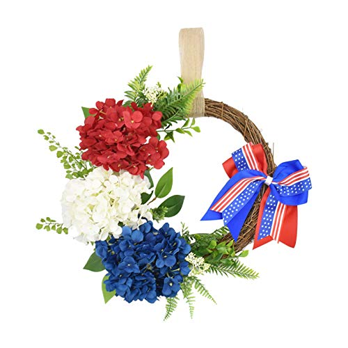 menolana 4th Grinalda de julho Americana Patriótica Coroa de Flores Artesanais Memorial Dia Nó Festival Guirlanda Grinalda Decoração de Casa Decoração Da