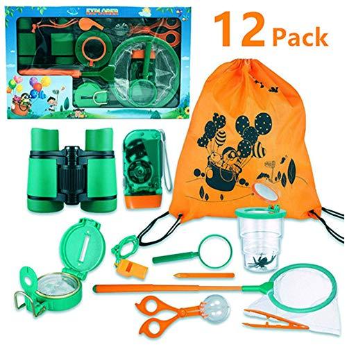 FUNCUBE Kit de Explorador al Aire Libre 12Pcs Juguetes de Juego de imaginación para...