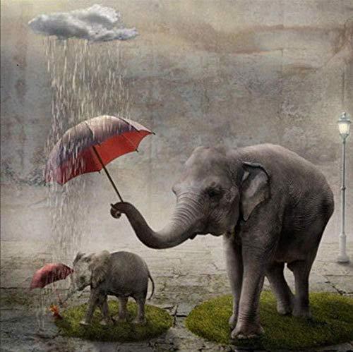 Benjaminze - 1000 Teile Spiele Puzzle - Elefant mit Regenschirm - Erwachsene Kinder Lernspielzeug Puzzle Weihnachtsdekoration Geschenk Classic Puzzle