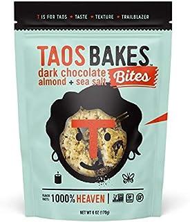 Taos Bakes Bites - Dark Chocolate Almond + Sea Salt (6oz) - Gluten-Free, Non-GMO, Healthy Energy Bar Bites