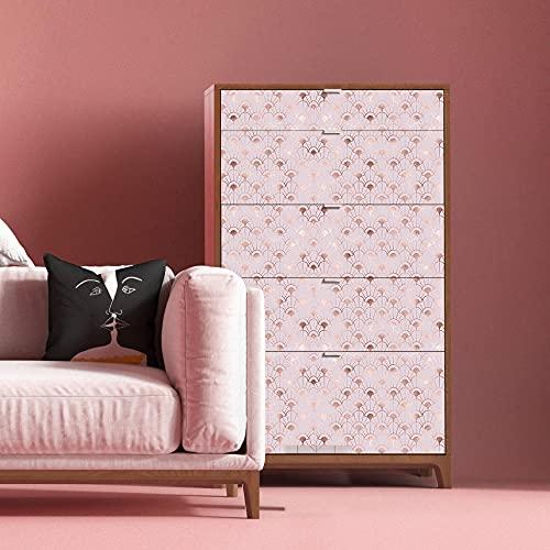 Papel pintado autoadhesivo de color rosa de contacto DIY impermeable autoadhesivo decorativo papel pintado cocina gabinetes cajón muebles pared 45x300cm