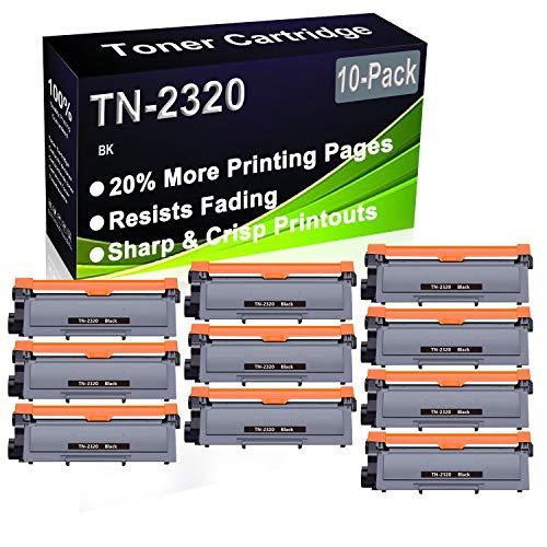 Cartucho de impresora láser compatible con DCP-L2500D, DCP-L2520D, DCP-L2520DW, DCP-L2540DN (alta capacidad) de repuesto para Brother TN2320 TN-2320 (10 unidades)