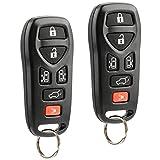 Car Key Fob Keyless Entry Remote fits Nissan 2004-2009 Quest (KBRASTU51, 211B-ASTU51), Set of 2