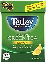 Tetley Green Tea, with Lemon, 72 Tea Bags (Pack of 6)