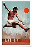 JUNIQE® Fußball Sportler & Sportlerinnen Poster 30x45cm -