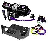 KFI Combo Kit - U45-R2 4500lbs Winch, Mount Bracket, Wiring, Switches, Remote Kit - compatible with 2012-2013 Kawasaki Teryx4 750 & 2014-2018 Teryx & Teryx4 800