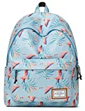 Mr Ace Homme School Backpack for Teenager Youth Children Water Resistant Daypack Fit 14 inch Laptop School Bag, 18L, Flamingo Blue