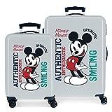 Disney Mickey Original Juego de Maletas Azul 55/68 cms Rígida ABS Cierre de combinación Lateral 104L 2,66 kgs 4 Ruedas...