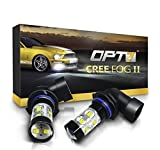 OPT7 H10 (9145 9140 9040) CREE XLamp LED DRL Fog Light Bulbs...