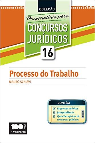 PREPARATÓRIA PARA CONCURSOS JURÍDICOS - PROCESSO DO TRABALHO