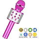 Wireless Bluetooth Karaoke Microphone,Rechargeable Kids Microphone Karaoke Machine,Professional Handheld Karaoke Mic Speaker Home KTV Kids Birthday Party - Best Gifts for Kids Adults (Purple)