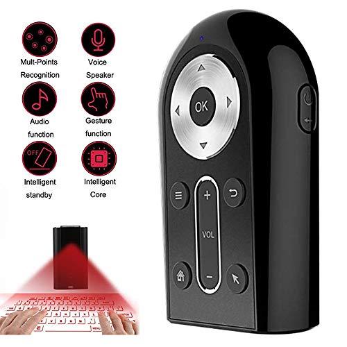 Roboraty Smart Remote Virtuelle Tastatur, Bluetooth Laserpointer Projektion TV-Controller, Touch-Sensor, Kann Als TV-Fernbedienung, Drahtlose Fernbedienung, Drahtlose Maus, Touchpad,Black