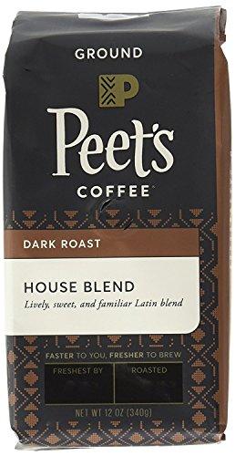 Peet's Coffee House Blend Ground, Dark Roast, 12oz (Pack of 2) bag
