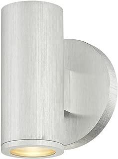 LED Cylinder Outdoor Wall Light Brushed Aluminum 2700K
