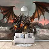Fototapete Drachen Tapete Moderne Wanddeko Tapeten 3D Design Wandtapete Wohnzimmer Schlafzimmer Büro Flur Wand Dekoration Wandbilder,200x140cm