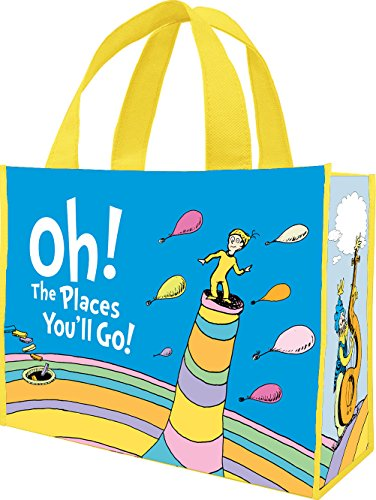 Dr. Seuss Oh the Places You'll Large Recycled Tote 17773