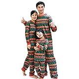 BOZEVON Familia de Navidad Pijama - Imprimir Conjunto de Ropa de Dormir...