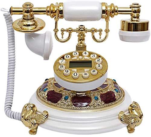 DHFDHD Teléfono Antiguo Teléfono Retro Teléfonos Antiguos de época con la identificación de Llamada de rellamada Ajuste Tono Teléfono Fijo Ministerio del Interior por (Color : B)