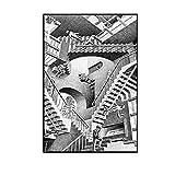 Gráficos de ilusión MC Escher lienzo pintura cuadro de arte de paredpara sala de estar Decoracion del hogar 50x70 cm x1 sin marco