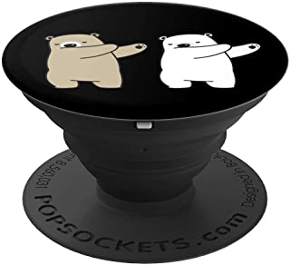 Dabbing polar bear dab dancing gift for kids PopSockets Grip and Stand for Phones and Tablets