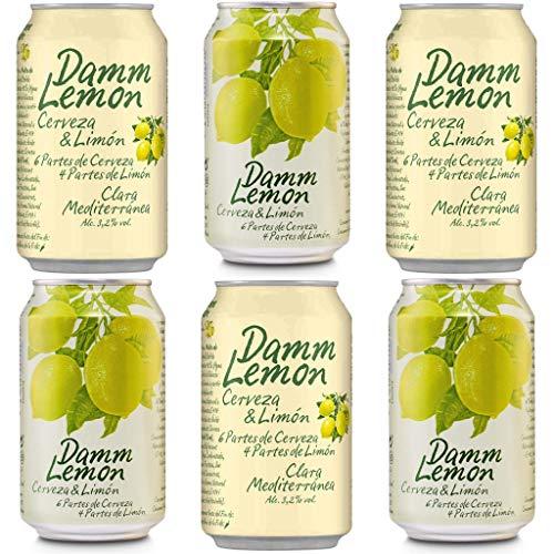 DAMM LEMON Bier 3.2% Alkohol. Dosen 330 ml. Estrella Damm. bier dose, biere der welt, bier set, geschenke für männer, adventskalender männer (12 Dosen, 0.33 l)