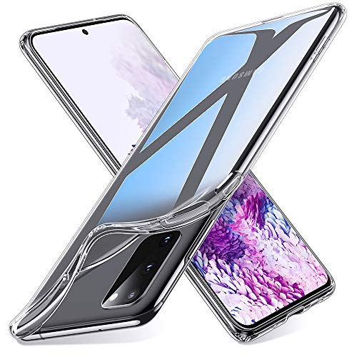 ESR Klare Silikon Hülle kompatibel mit Samsung Galaxy S20 2020, [Luftpolster] [Bildschirm- und Kameraschutz] [Ultra-dünn] Essential Zero Weiche Flexible TPU Hülle - Klar