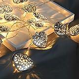 Weihnachtsliebesschnur LED-Lichterkette Weihnachtsherz Form Beleuchtet Partei Hauptdekor Im Freien Kupferdraht Lichterketten Twinkle Lichterkette Hochzeit Party Indoor AußEnbereich