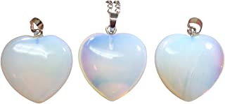 You are My Only Love Natural Gemstone Large Heart Pendant Necklace Healing Crystal Quartz Reiki Chakra Gem Stones 18 Inch Women Girls Birthday Gifts