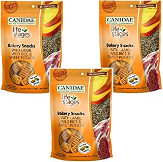 CANIDAE (3 Pack Life Stages Bakery Snacks with Lamb, Wild Rice, Sweet Potato Biscuits for Dogs, 14 oz