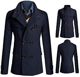 FidgetGear Fashion Coat Double Breasted Peacoat Long Men Jacket Winter Dress Top M-3XL New