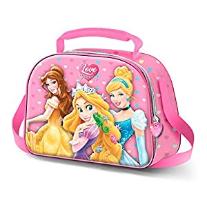 Bolsa Portameriendas 3D Princesas Disney 20,5x26x10cm Karactermania