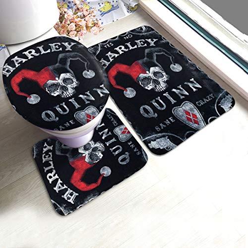 515i69QlhJL Harley Quinn Bath Mats