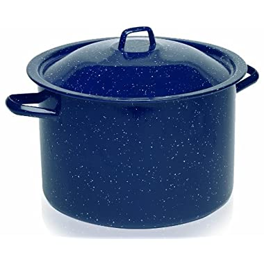 IMUSA USA C20666-10636W Speckled Enamel Stock Pot 7.75-Quart, Blue