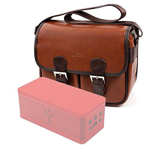 DURAGADGET Bolsa Profesional marrón con Compartimentos para Altavoz Portátil ALTEC Lansing Mini...