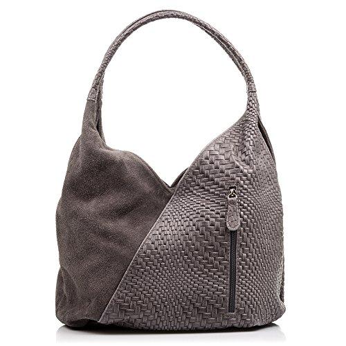 FIRENZE ARTEGIANI.Bolso Shopping Bag de Mujer Piel auténtica.Bolso Cuero Genuino Grabado con...