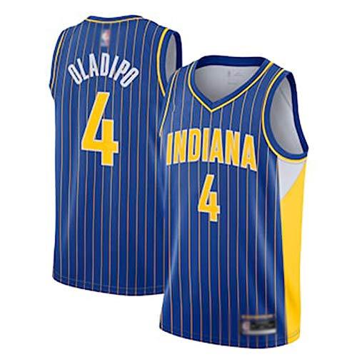 GLMAS Pacers # 4 Oladipo Basketball Jersey 20-21 Temporada Nueva Camiseta Chaleco Fan Singlet City Edition Sports Basketball Game Best Jersey (S-XXL) XXL