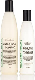Antifungal Shampoo (12oz) & Conditioner (8oz) Combo that Fights Fungus and Bacteria on the Scalp and Skin