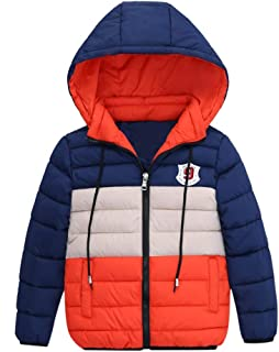 AMSKY Clearance Sale Fashion Kids Coat Boys Girls Thick Coat Padded Winter Warm Jacket Clothes Snowsuit
