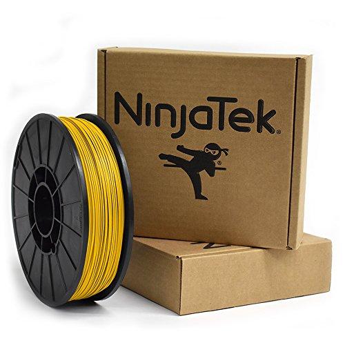 NinjaTek 3DNF04117510 NinjaTek NinjaFlex filamento de TPU, 1,75 mm, Tpe, 1 kg, sol (amarillo) (Paquete de 1)