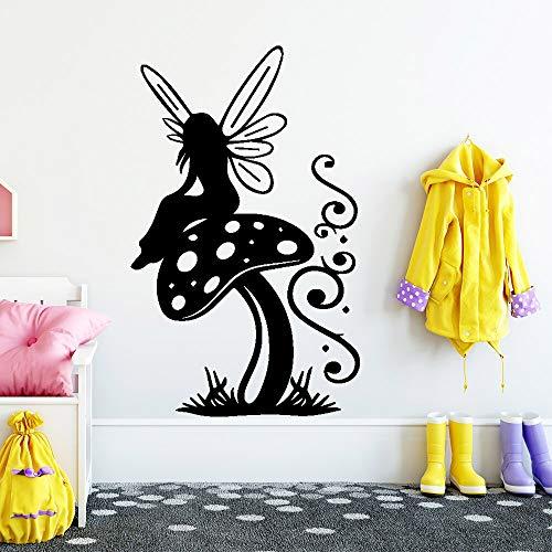 JXMN Estilo de Dibujos Animados niña de Las Flores Papel Tapiz de Vinilo Rollo de decoración de Muebles habitación decoración Natural Arte de la Pared Mural 56x98 cm