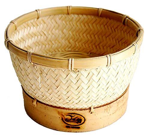 Exotic Elegance Reis-Dampfgarer aus Bambus zum Einsatz in Reiskocher (Korb Ø 16,5 cm)