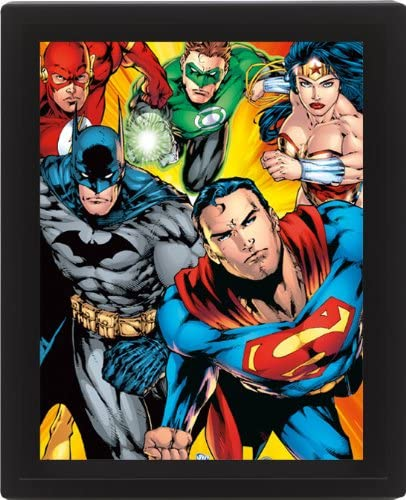 Dc trend rank Comics Heroes 10 Tucson Mall X Lenticular Framed Poster 3d 8cm