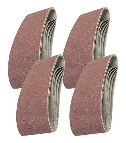 20 x Mixed Power Tool Sander Sanding Belt Belts 75mm x 457mm 40 60 80 120 Grit