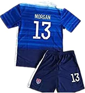 TanNan XU 2015 Alex Morgan #13 Kids/Youth Away Jerseys and Shorts