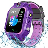 GBD Smart Watch for Kids-IP67 Waterproof Smartwatch Phone with Call Games Alarm Clock Music Video 12/24 Hr, Kids Digital Wrist Watch Stopwatch for Children Boys Girls Age 3-12 Learning Toys (Purple)